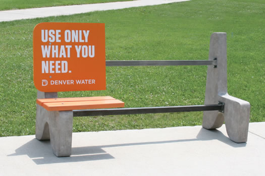 Use Only What You Need park bench