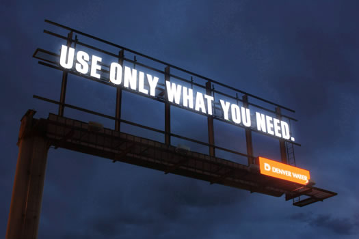 use only what you need billboard