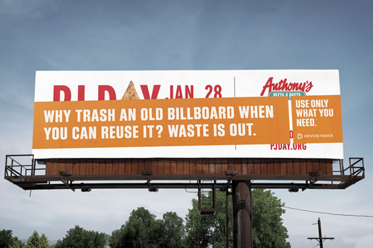 Recycled billboard