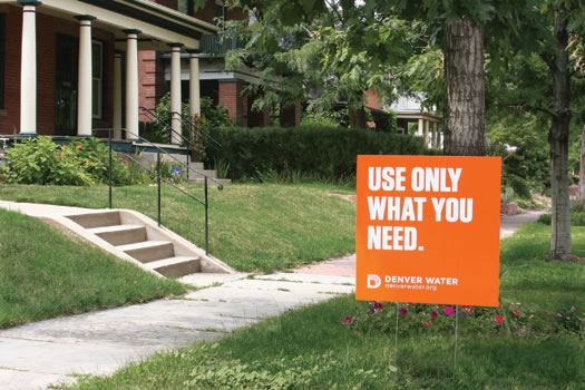 use only what you need yard sign