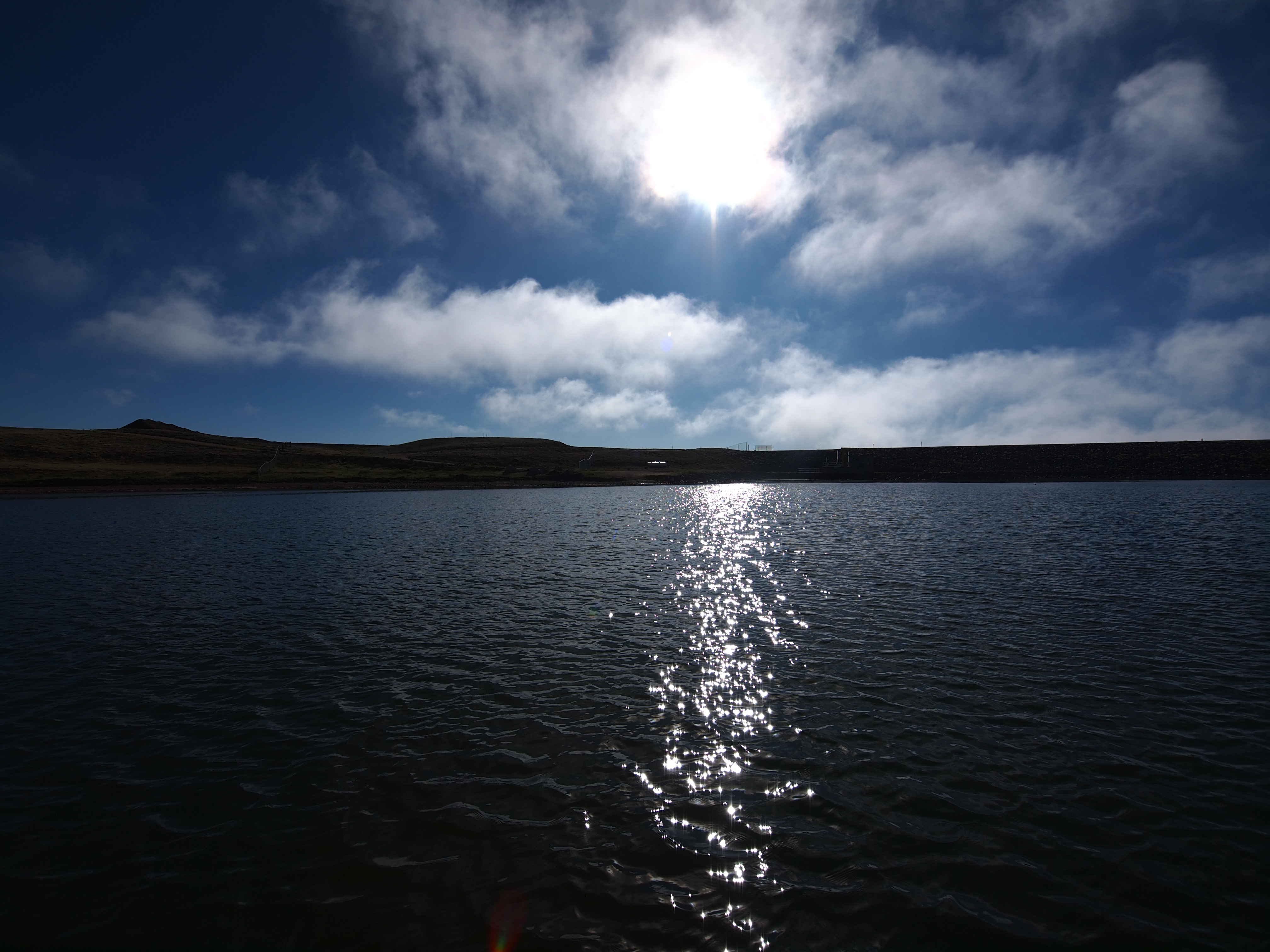 sun above antero reservoir