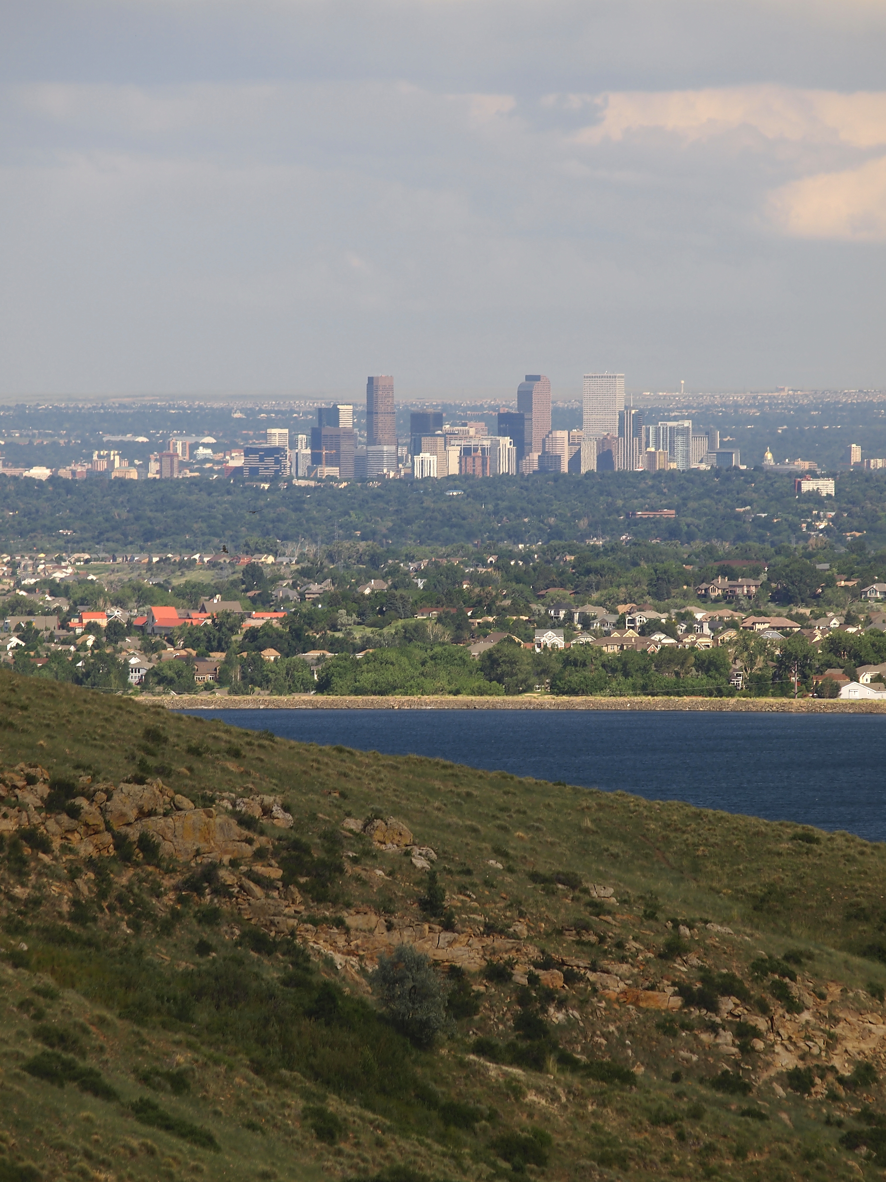 view of denver from ralston reservoir site