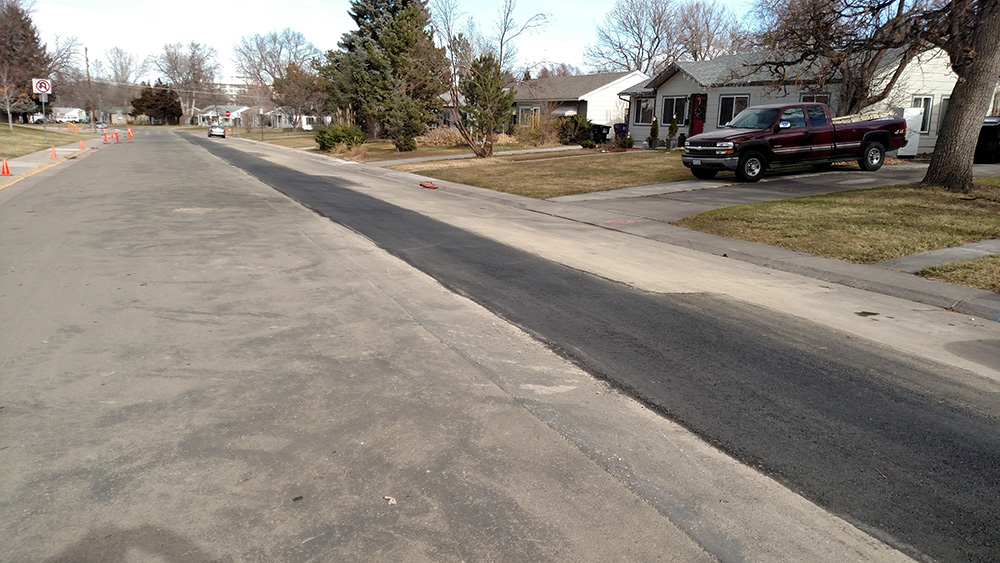 ... Final paving of trench & Pipe Replacement   Denver Water