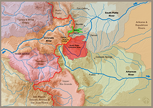 Colorado water map