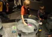 Water exhibit at Children's Museum