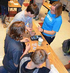 Students do water testing