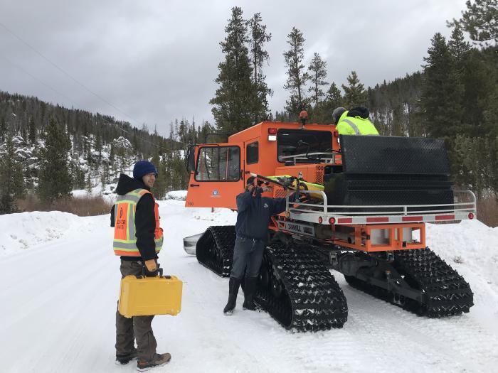 Survey Snow Cat Meadow Creek Snow