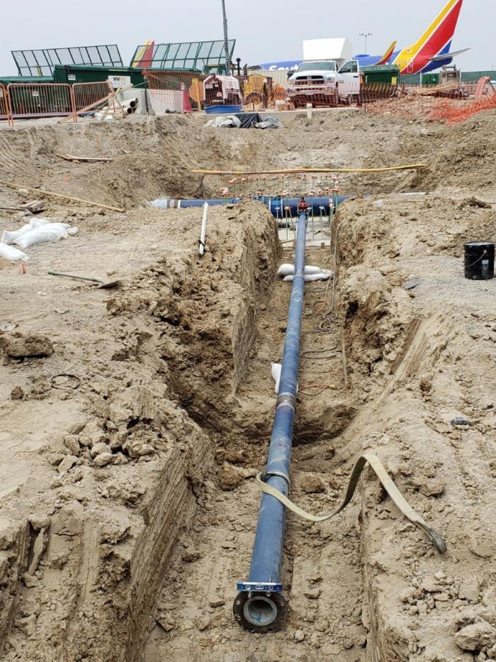 New water line at Denver International Airport
