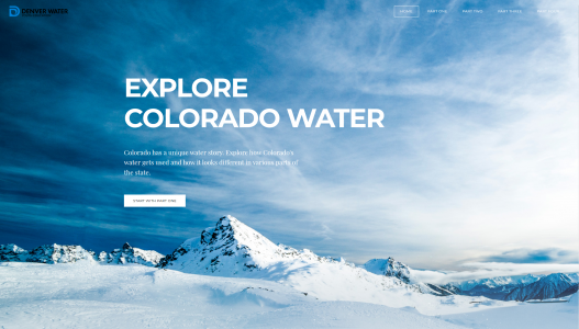 Explore Colorado Water homepage.