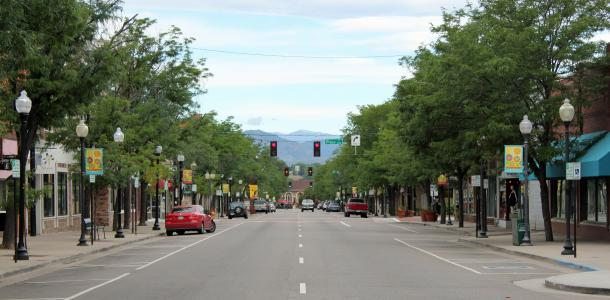 A section of Main Street in Littleton, Colorado.