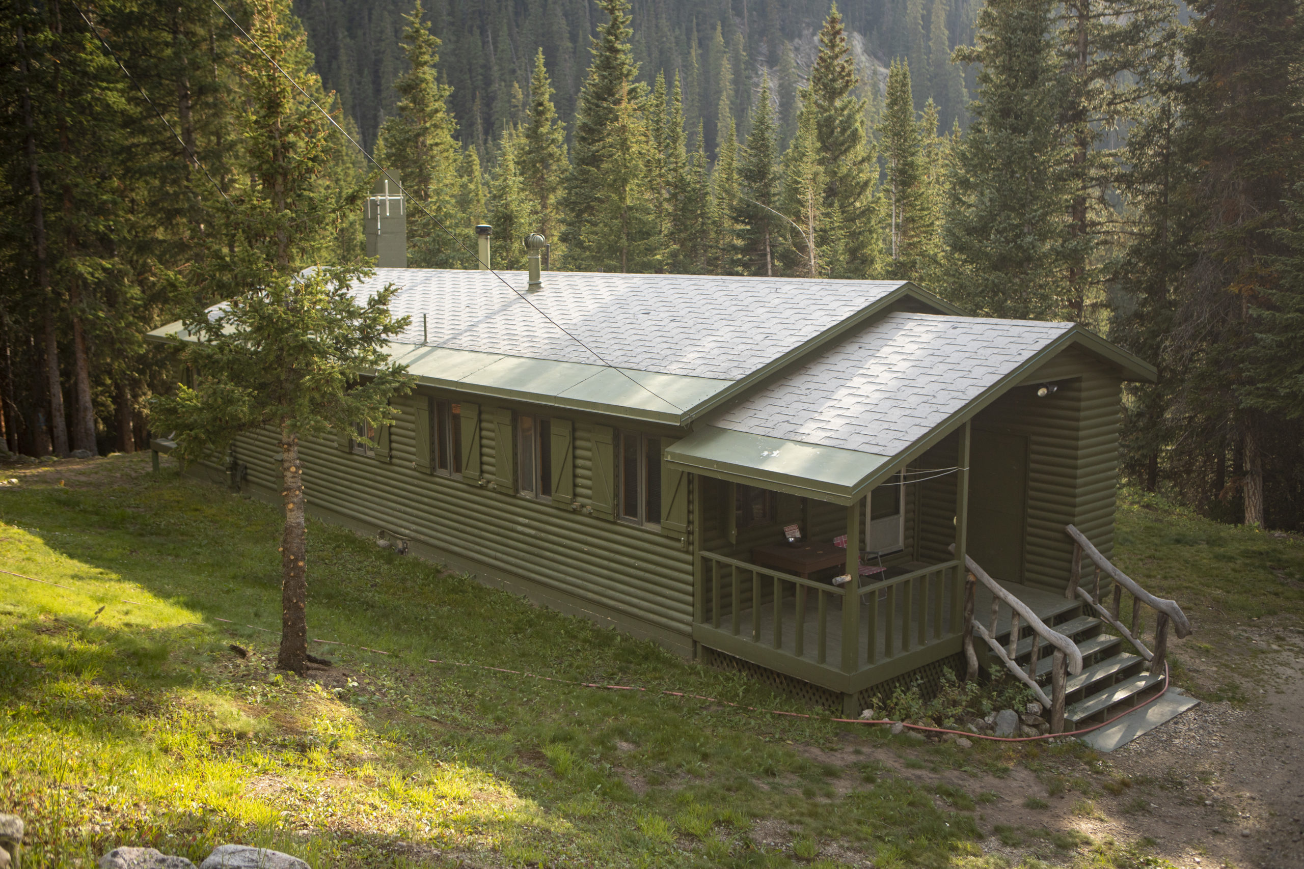 Denver Water has a cabin on the west side of Jones Pass where employees stay in the summer to maintain water operations. Photo credit: Denver Water.