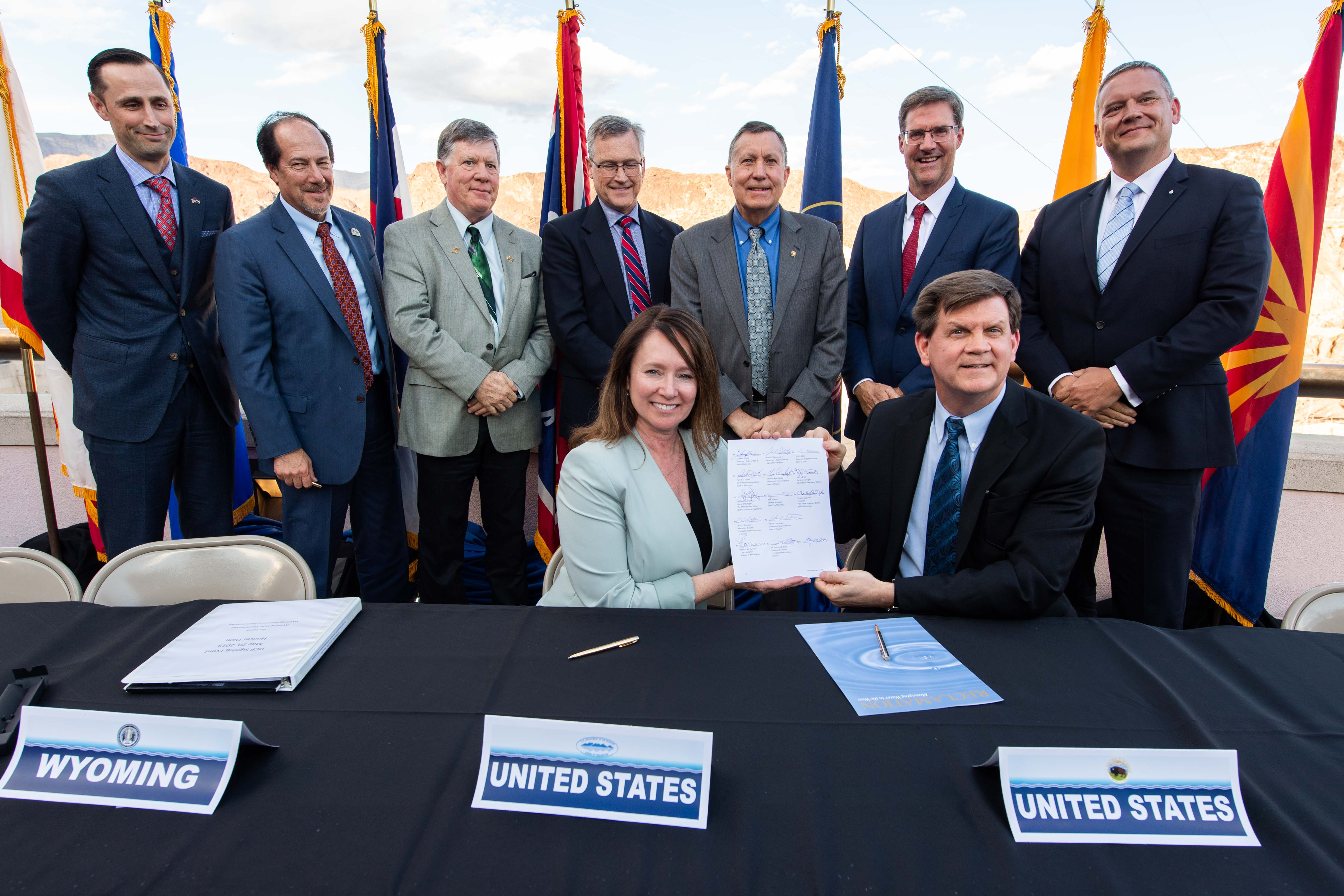 The Department of the Interior, Bureau of Reclamation and representatives from all seven Colorado River Basin states gathered at Hoover Dam in Boulder City, Nevada on May 20, 2019 to sign completed drought contingency plans for the Upper and Lower Colorado River basins. These completed plans are designed to reduce risks from ongoing drought and protect the single most important water resource in the western United States.