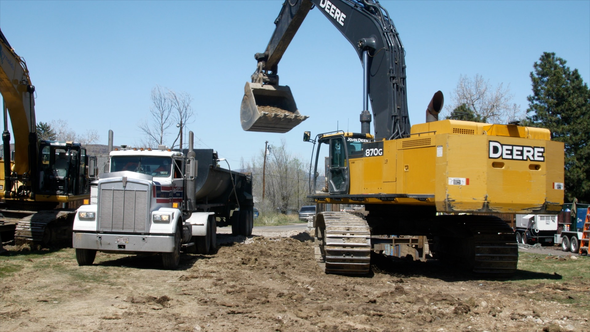 Homeowners can expect to see large construction equipment along the pipeline corridor during the project.