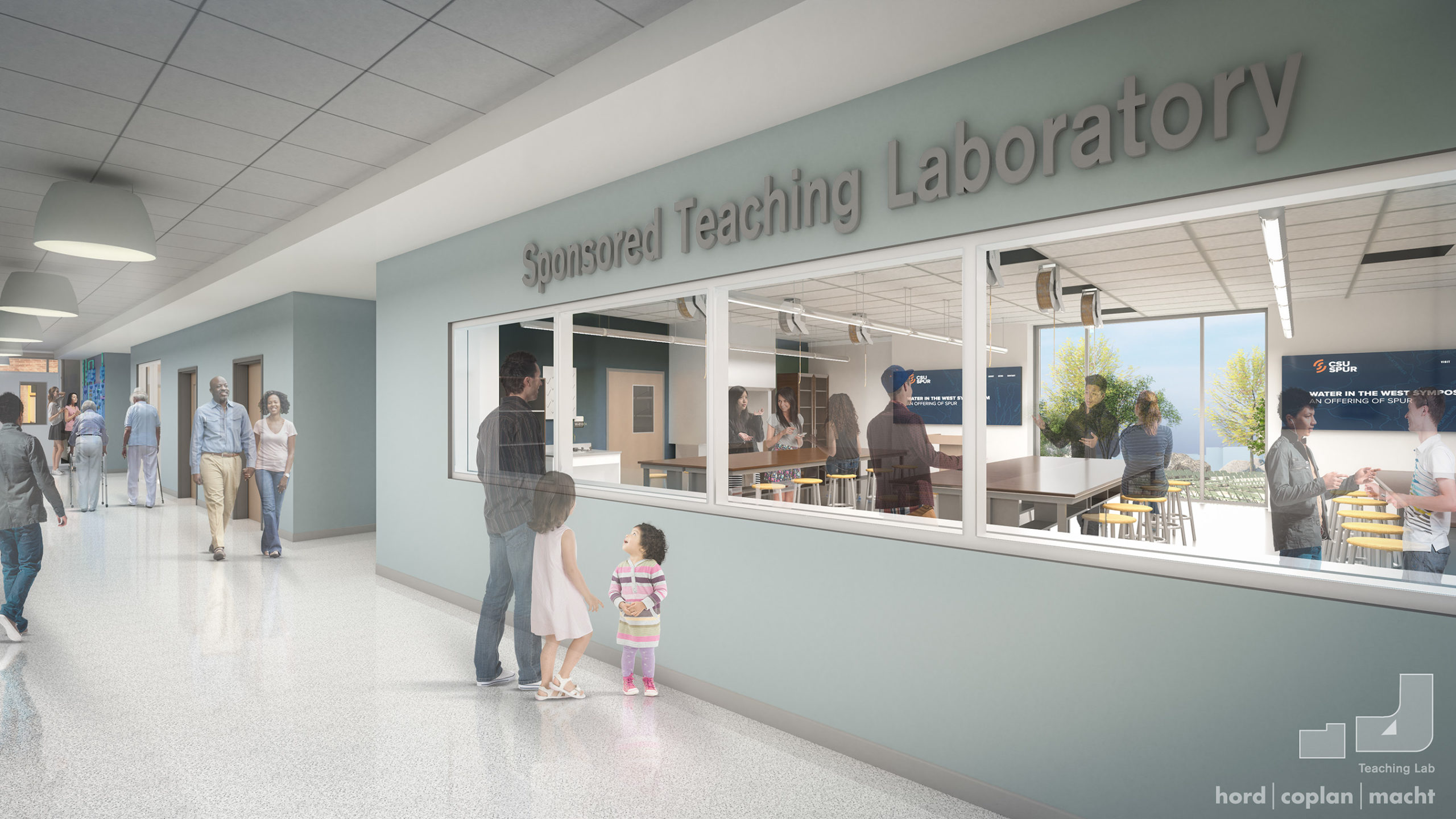 The Hydro building will include teaching labs like the one represented in this rendering.