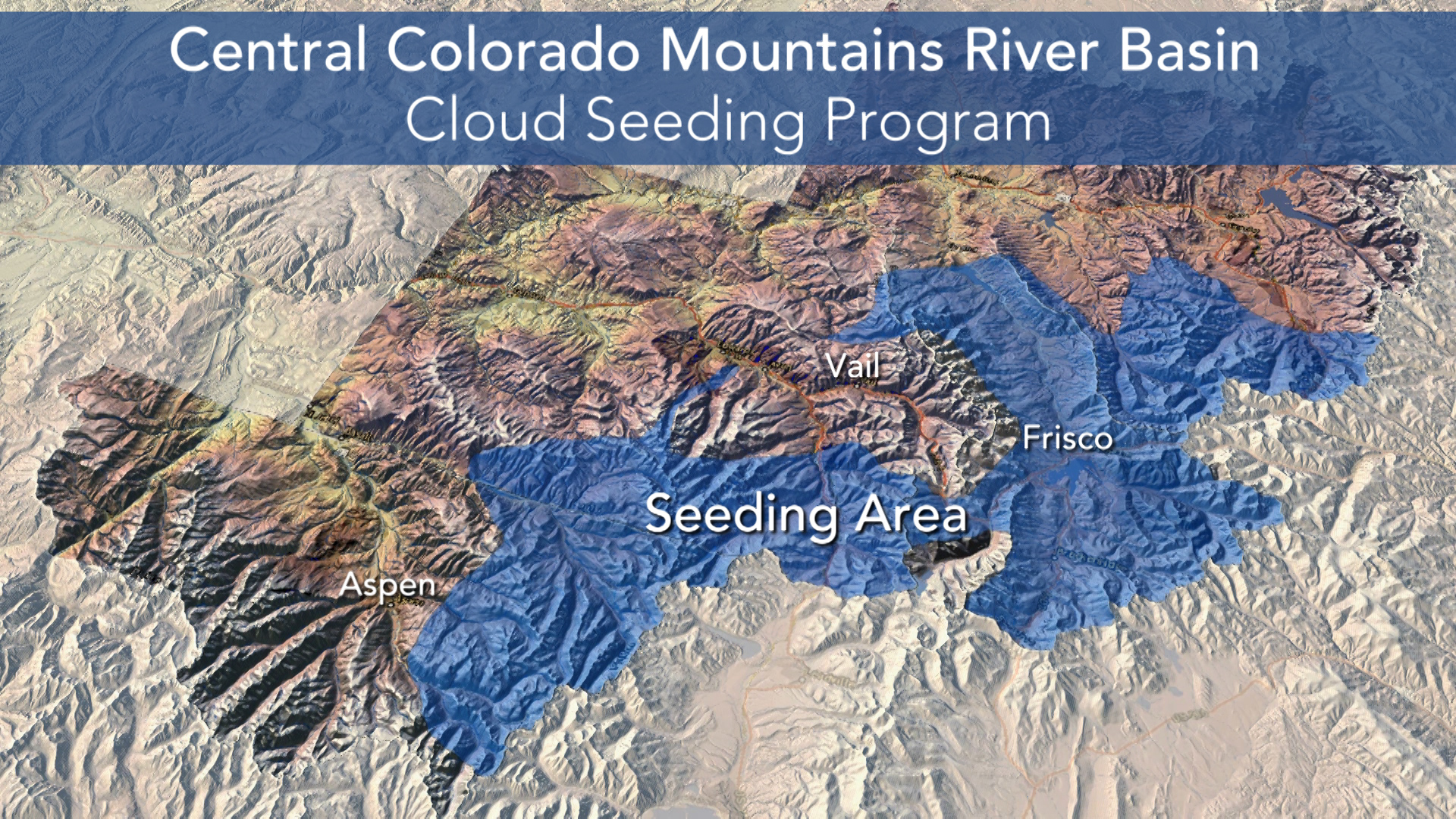 Cloud seeding generators are located in Eagle, Grand, Pitkin and Summit counties. There are 7 cloud seeding programs in Colorado.