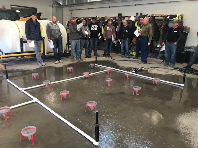 Landscape and irrigation professionals take part in water efficiency certification training at South Metro Water Supply Authority in Feb. 2020. Photo credit: SMWSA.