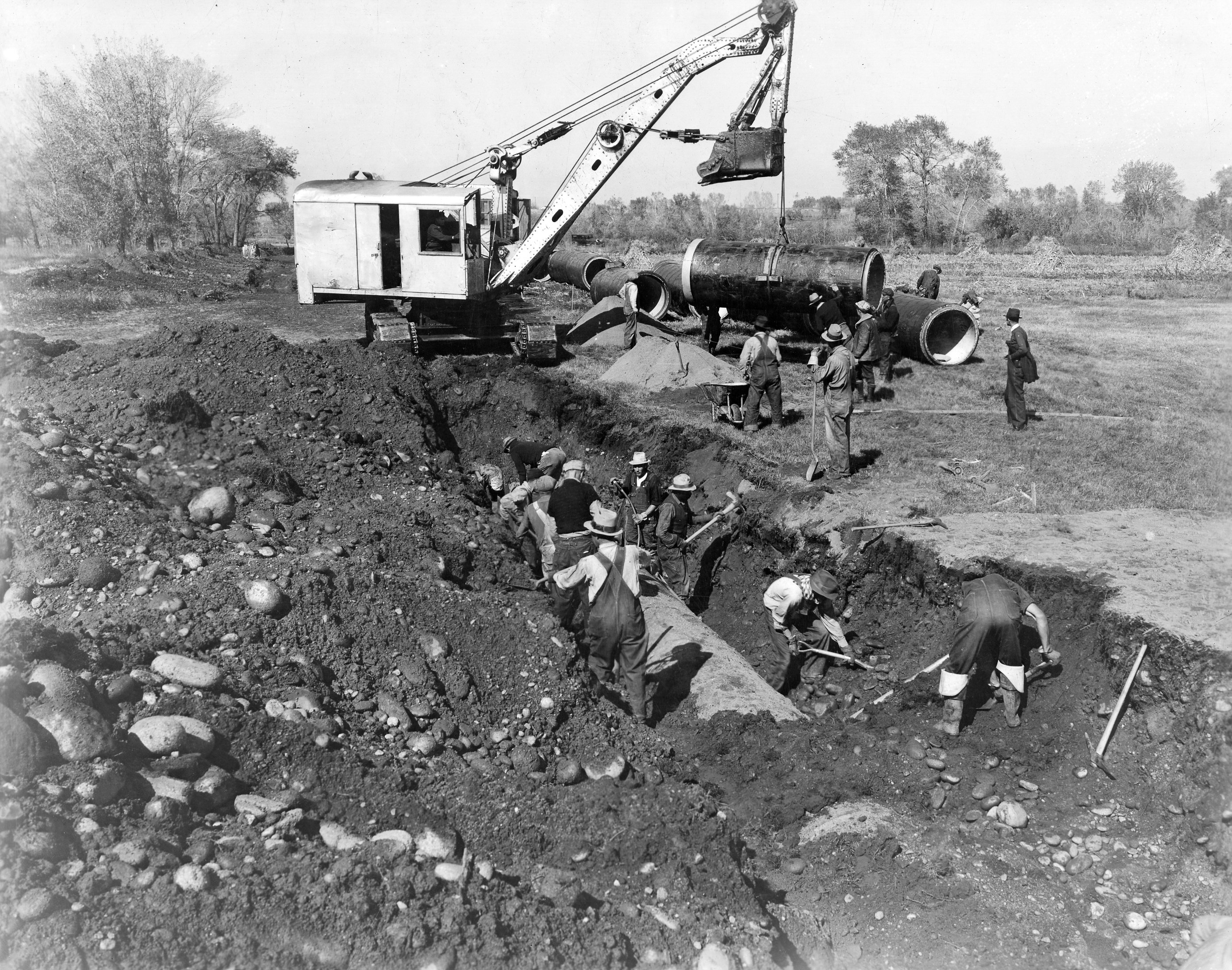 Denver Water crews installed the original pipeline in the 1930s.