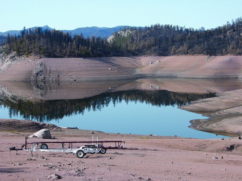 Cheesman Reservoir during the 2002 drought.